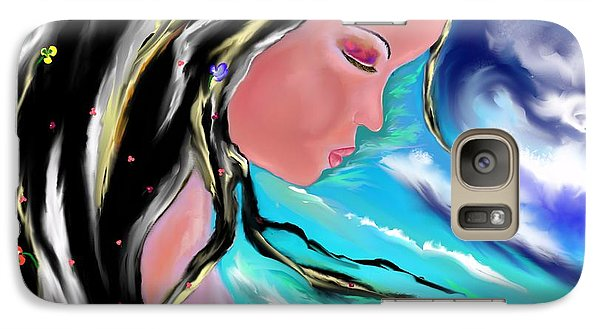 Galaxy Case featuring the drawing Broken by Lori  Lovetere