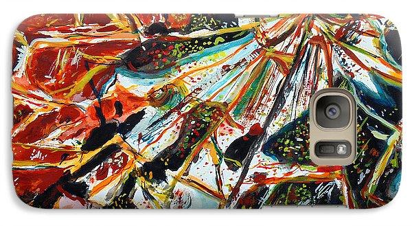 Galaxy Case featuring the painting Broken Mirror by Daniel Janda