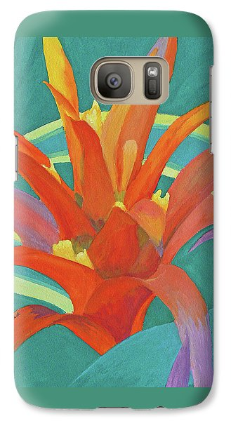 Galaxy Case featuring the painting Bromeliad Glow by Margaret Saheed