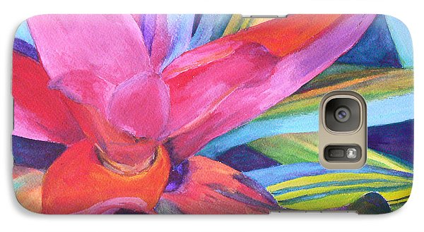 Galaxy Case featuring the painting Bromeliad Pink by Margaret Saheed