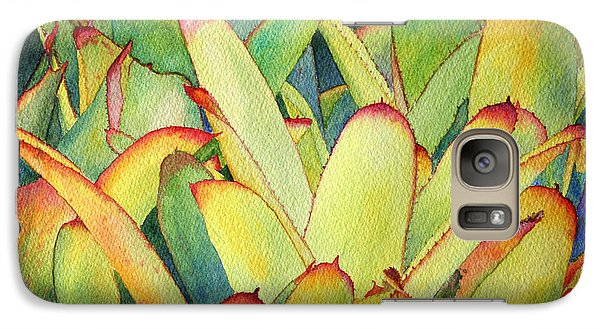 Galaxy Case featuring the painting Bromeliads I by Roger Rockefeller