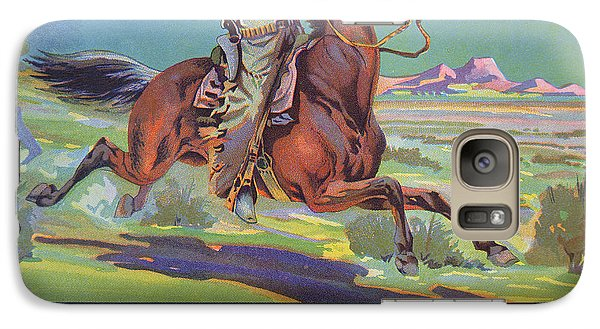 Horse Galaxy S7 Case - Bronco Oranges by American School