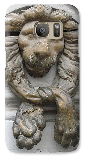Galaxy Case featuring the photograph Bronze Lion by Pema Hou