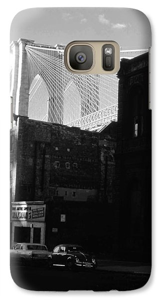 Galaxy Case featuring the photograph Brooklyn Bridge 1970 by John Schneider