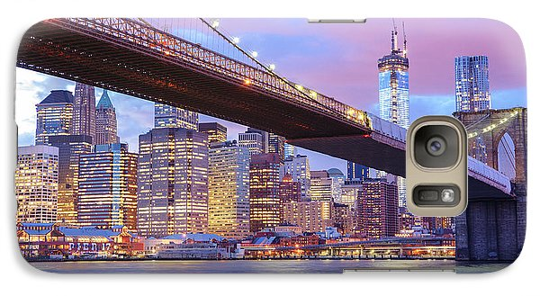 Brooklyn Bridge And New York City Skyscrapers Galaxy S7 Case