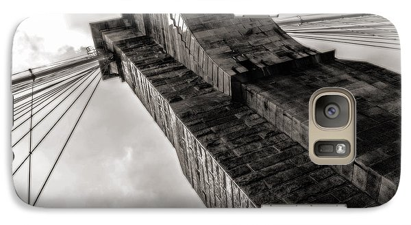 Galaxy Case featuring the photograph Brooklyn Bridge by Angela DeFrias
