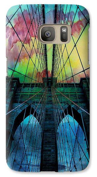 City Scenes Galaxy S7 Case - Psychedelic Skies by Az Jackson
