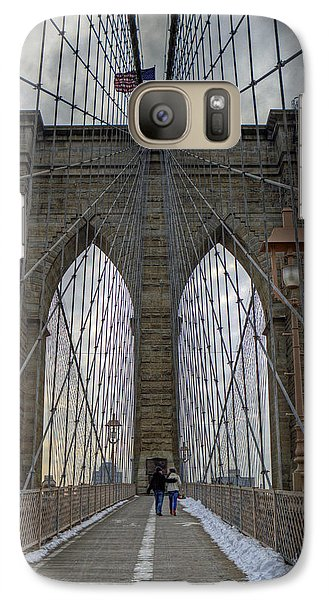 Galaxy Case featuring the photograph Brooklyn Bridge by Jerry Gammon