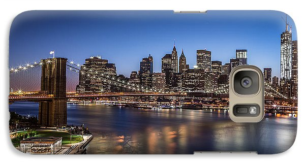 Galaxy Case featuring the photograph Brooklyn Bridge by Mihai Andritoiu