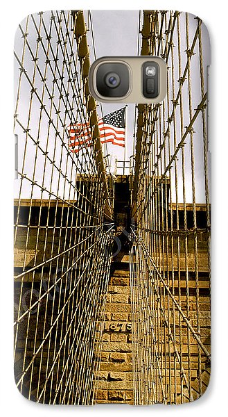 Galaxy Case featuring the photograph Brooklyn Bridge by Roseann Errigo
