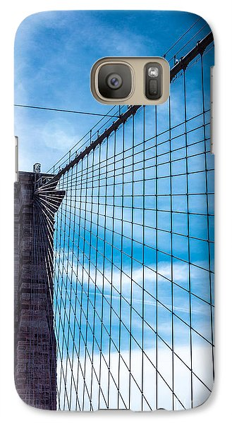 Galaxy Case featuring the photograph Brooklyn Bridge Suspense by Rafael Quirindongo