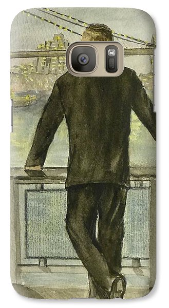 Galaxy Case featuring the painting Brooklyn Bridges Finest New York by Kelly Mills