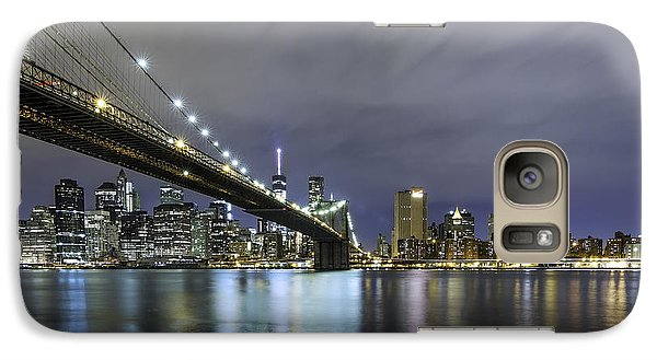 Galaxy Case featuring the photograph Brooklyn Nights by Anthony Fields