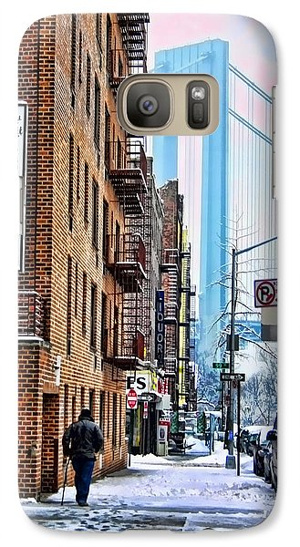 Galaxy Case featuring the photograph Brooklyn Walk by Terry Cork