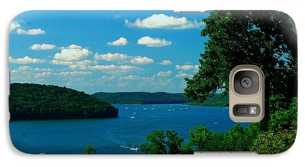 Galaxy Case featuring the photograph Brookville Lake by Gary Wonning