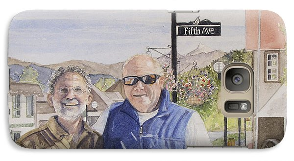Galaxy Case featuring the painting Bros by Carol Flagg