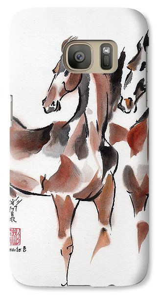 Galaxy Case featuring the painting Brothers by Bill Searle