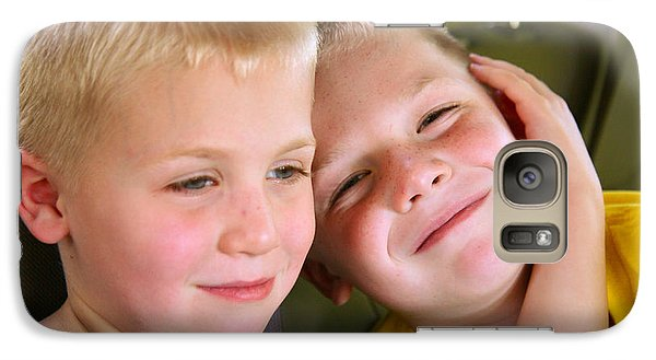 Galaxy Case featuring the photograph Brothers Love by Shirley Heier