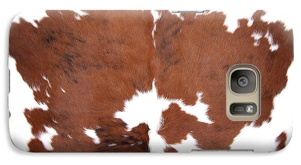 Galaxy Case featuring the photograph Brown Cowhide by Gunter Nezhoda