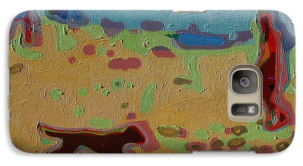 Galaxy Case featuring the painting Brown Dog On Beach by Thomas Bertram POOLE