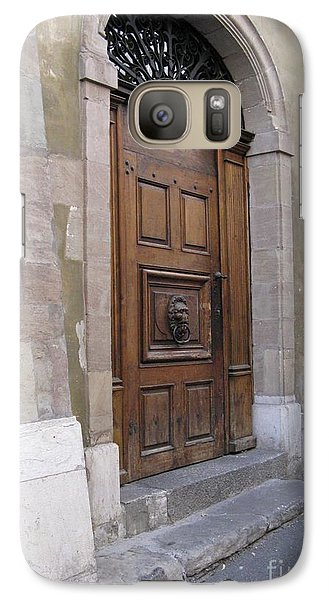 Galaxy Case featuring the photograph Brown Door by Arlene Carmel