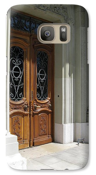 Galaxy Case featuring the photograph Brown Doors by Arlene Carmel