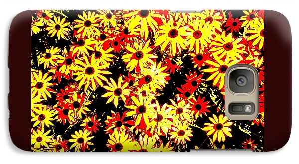 Galaxy Case featuring the photograph Brown Eyed Susans I by Peter Gumaer Ogden