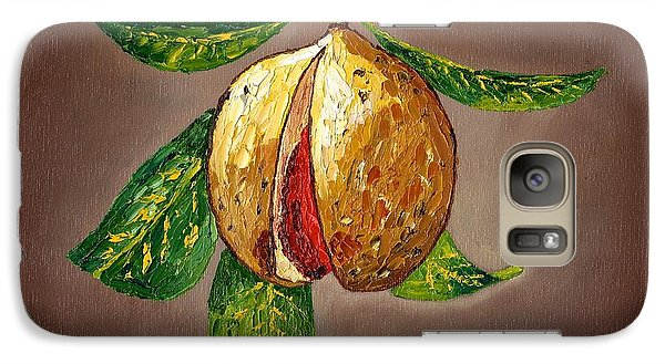 Galaxy Case featuring the painting Brown Glow Nutmeg by Laura Forde