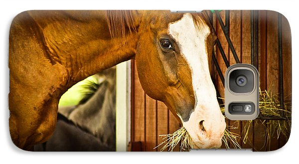 Galaxy Case featuring the photograph Brown Horse by Joann Copeland-Paul