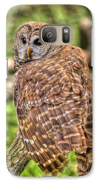 Galaxy Case featuring the photograph Brown Owl by Donald Williams