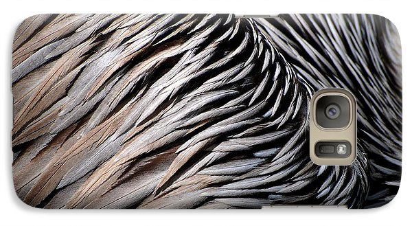 Galaxy Case featuring the photograph Brown Pelican Feathers by Lorenzo Cassina