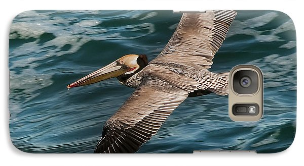 Galaxy Case featuring the photograph Brown Pelican Flying 1 by Lee Kirchhevel