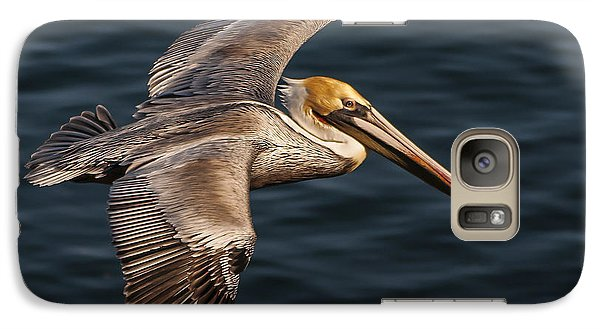 Galaxy Case featuring the photograph Brown Pelican Flying by Lee Kirchhevel