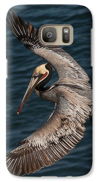 Galaxy Case featuring the photograph Brown Pelican Landing 2 by Lee Kirchhevel
