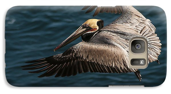 Galaxy Case featuring the photograph Brown Pelican Landing by Lee Kirchhevel