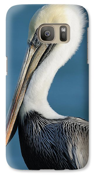 Galaxy Case featuring the photograph Brown Pelican Portrait by Bradford Martin