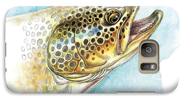 Brown Trout Study Galaxy S7 Case