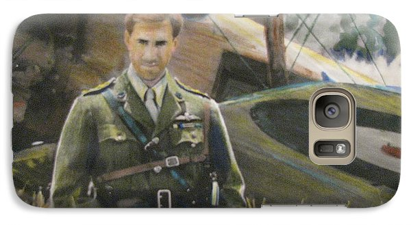Galaxy Case featuring the painting Brown by Vikram Singh