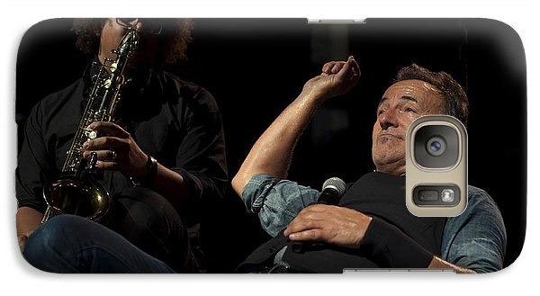 Galaxy Case featuring the photograph Bruce And Jake At Greasy Lake by Jeff Ross