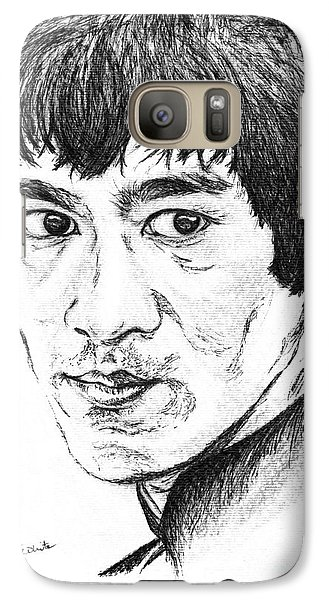 Galaxy Case featuring the drawing Bruce Lee by Teresa White