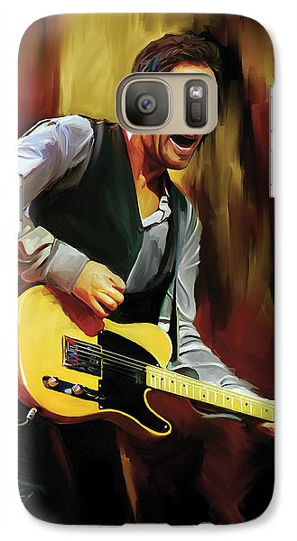 Bruce Springsteen Artwork Galaxy Case by Sheraz A