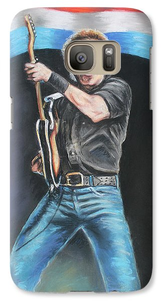 Galaxy Case featuring the painting Bruce Springsteen  by Melinda Saminski
