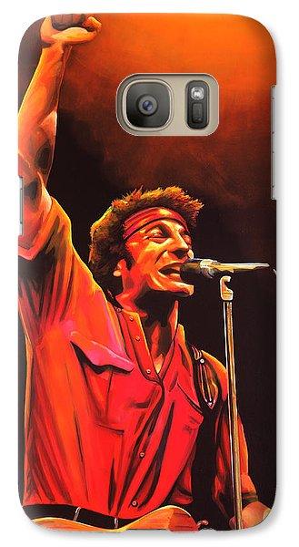 Bruce Springsteen Painting Galaxy S7 Case by Paul Meijering