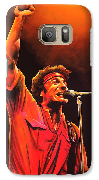 Rock And Roll Galaxy S7 Case - Bruce Springsteen Painting by Paul Meijering