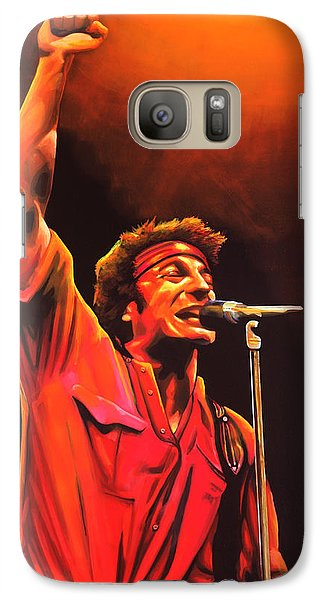 Bruce Springsteen Painting Galaxy Case by Paul Meijering