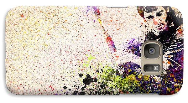 Bruce Springsteen Galaxy S7 Case - Bruce Springsteen Splats 2 by Bekim Art