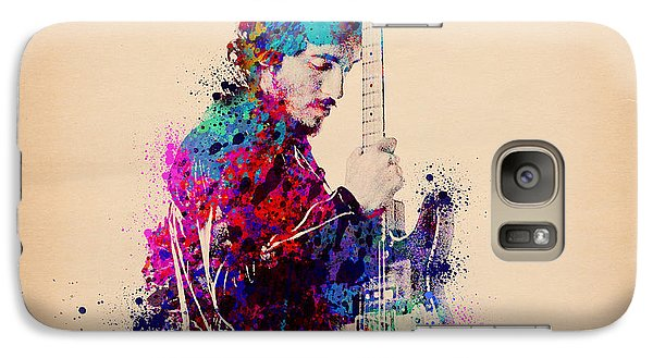 Bruce Springsteen Splats And Guitar Galaxy S7 Case