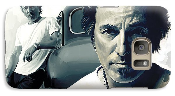 Bruce Springsteen The Boss Artwork 1 Galaxy Case by Sheraz A