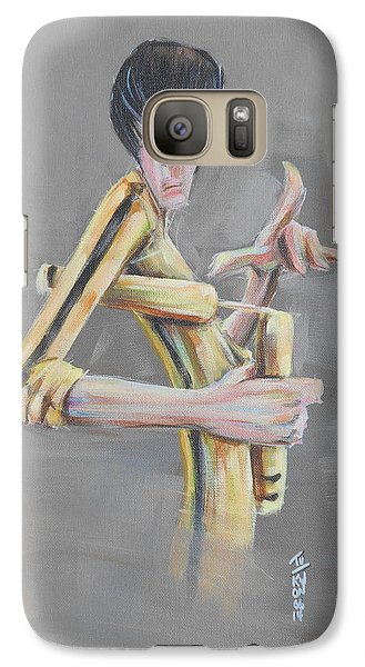 Galaxy Case featuring the painting Bruce  by Tu-Kwon Thomas