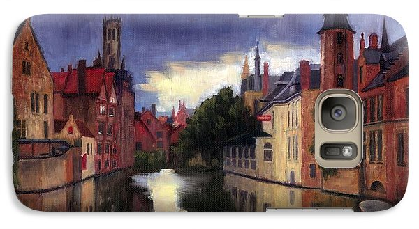Galaxy Case featuring the painting Bruges Belgium Canal by Janet King